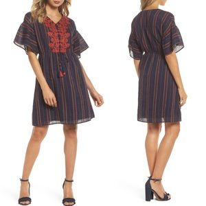 THML Embroidered A-line Dress